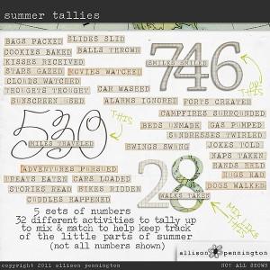 Summer Tallies!