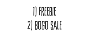 Freebie AND HUGE BOGO SALE!